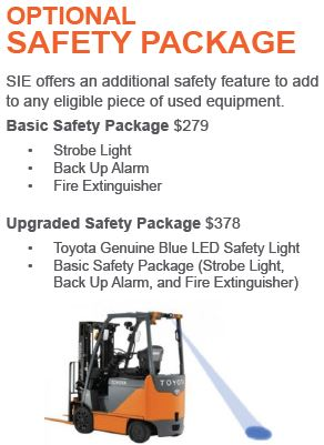 Optional Forklift Safety Package
