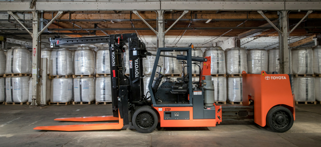 Toyota High Capacity Adjustable Wheelbase Forklift available at Southeast Industrial Equipment
