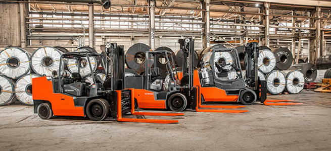 Toyota High Capacity IC Cushion Forklifts available at Southeast Industrial Equipment